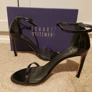 Stuart Weitzman Nudistsong Black Patent Heels 8